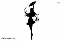 Black Dance Pose Silhouette Image