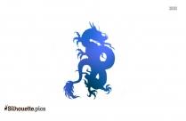 Japanese Dragon Tattoo Silhouette