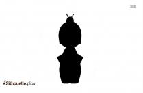 Cartoon Boy Silhouette Clipart