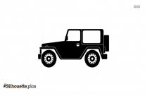 Jeep Vehicle Icon Silhouette