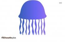 Transparent Jellyfish Silhouette Image