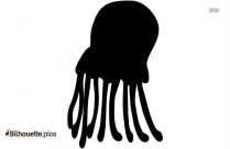 Jellyfish Silhouette Drawing