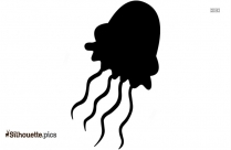 Jellyfish Silhouette Clipart Image