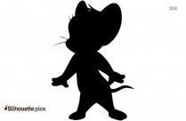 Black And White Chibi Hawkeye Silhouette