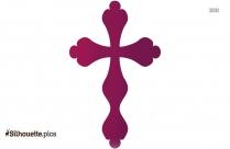 Christmas Cross Silhouette Symbol