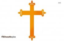 Christian Cross Silhouette Free Vector Art