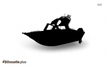 Cartoon Boat Silhouette Image And Vector