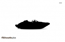 Jet Boat Silhouette Vector