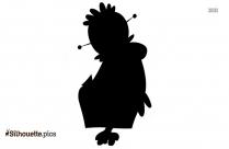 Happy Dwarf Silhouette Art