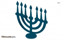 Jewish Art Symbols ClipArt Silhouette
