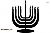 Jewish Symbols Clip Art Candles Silhouette