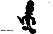 Jiminy Cricket Silhouette Free Vector Art