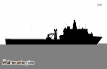 Joint Support Ship Side View Silhouette