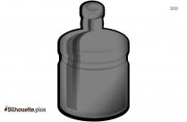Black Plastic Bottle Silhouette Image