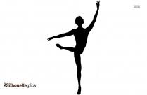 Girl Dancing Ballerina Silhouette Image