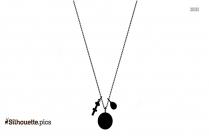 Black Neck Chain Silhouette Image