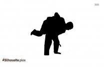 Judo Symbols Silhouette Illustration