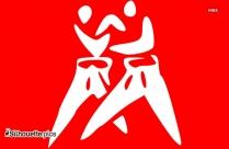 Karate Man Silhouette Clip Art