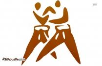 Judo Symbol Silhouette Picture