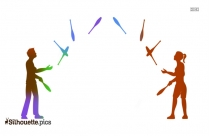 Juggling Act Silhouette Clip Art