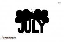 June Silhouette Clip Art