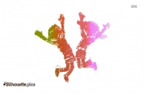 Boy Jumping Clipart Silhouette Picture