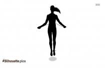 Jump Roping Silhouette