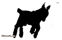 Simple Goat Drawing Silhouette