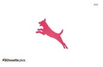Dog Jumping Vector Silhouette