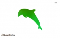 Jumping Dolphin Silhouette Clip Art