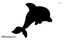 Jumping Dolphin Silhouette Illustration