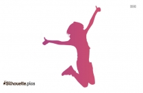 Skipping Rope Silhouette Art Image