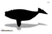 Little Blue Whale Silhouette