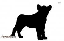Cartoon Baby Rhino Silhouette