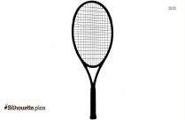 Junior Tennis Racquet Silhouette