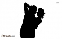 Just Married Couple Silhouette Picture