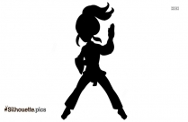 Karate Girl Silhouette Transparent