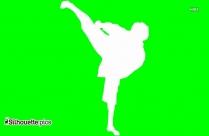 Martial Arts Silhouette Free Vector Art