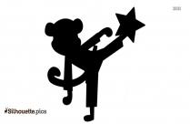 Karate Monkey Silhouette