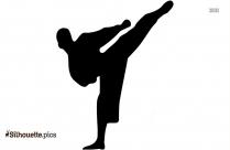 Karate Girl Silhouette Icon