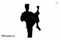 Cartoon Taekwondo Art Silhouette