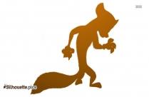 Karl Madagascar Cartoon Character Silhouette