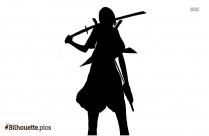 Katana Japanese Character Silhouette Drawing
