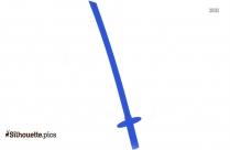 Pirate Sword Silhouette Vector