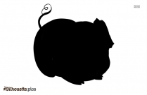 Cartoon Pig Silhouette Background