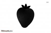 Cartoon Kawaii Strawberry Silhouette