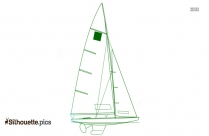 Keelboat Silhouette Drawing