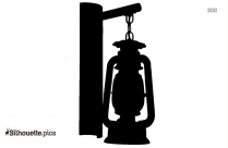 Kerosene Lamps Silhouette Vector And Graphics