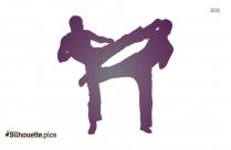 Kick Boxing Illustration Clip Art Silhouette Image