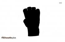 Kickboxing Gloves Silhouette Clip Art